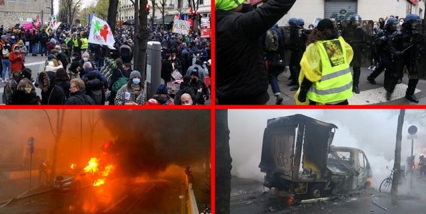 Paris ayaklanması: 22 gözaltı
